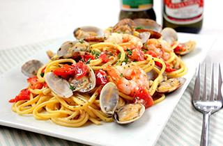 海の幸とトマトのスパゲッティ