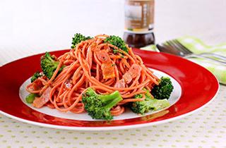 ブロッコリーのガーリックスパゲッティ